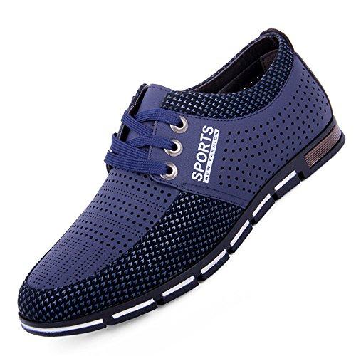 r Schuhe Eben Weich Atmungsaktiv Draussen Leicht Beiläufig Übung Schuhe Blau ()