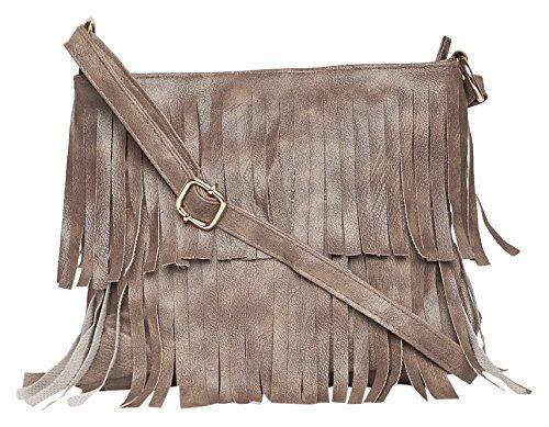 Alessia74 Women\'s Sling Bag (DK Grey) (PBG246J)