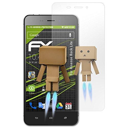 atFolix Bildschirmfolie kompatibel mit Hisense Rock Lite Spiegelfolie, Spiegeleffekt FX Schutzfolie