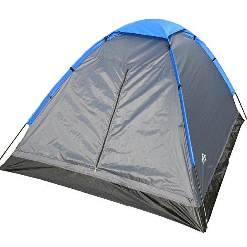 EXPLORER Zelt Monodome Kuppelzelt Igluzelt 205x150x105cm 2 Personen 1000mm Wassersäule Camping Outdoor Wandern Familie (Explorer Zelt 2)