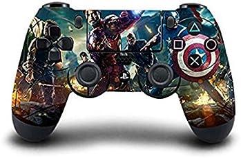 Elton PS4 Controller Designer 3M Skin for Sony PlayStation 4 DualShock Wireless Controller - Marvel Avengers, Skin for One Controller Only