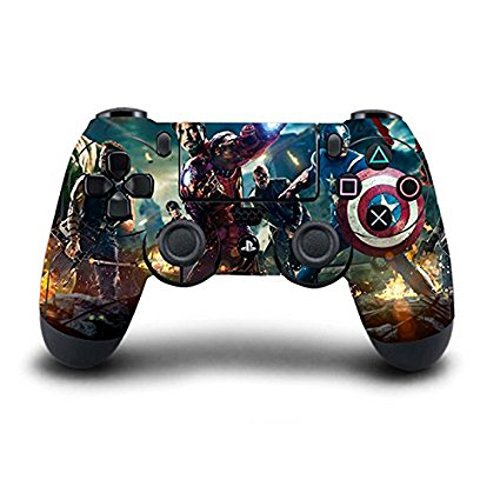 Elton PS4 Controller Designer 3M Skin for Sony PlayStation 4 DualShock Wireless Controller - Marvel Avengers, Skin for One Controller Only