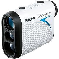 Nikon Coolshot 20 - Telemetro laser con batería de iones de litio Clase de sellado IPX4 Rango de temperatura de funcionamiento -10 - 50 ° C, 37 x 91 x 73 cm, Blanco/Negro/Azul