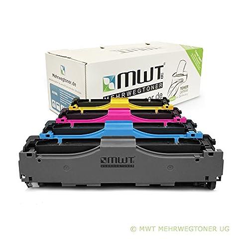 4x MWT Remanufactured Toner Cartouche pour HP Color LaserJet CM 2320 2323 2720 CBB EBB EI CI WB N WI FXI WBB NF EB CB MFP remplace CC530A-33A
