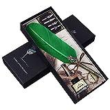 Angelliu - Penna stilografica con Piume, Stile Vintage, Fatta a Mano, con Penne di Inchiostro, per Scrittura o Regalo Verde