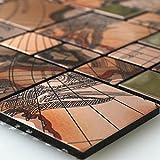 Edelstahl Metall Mosaik Fliesen Columbus Kupfer Alu Aluminium