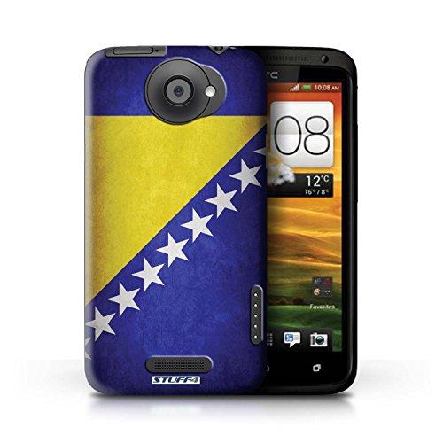 Kobalt® Imprimé Etui / Coque pour HTC One X / Pays de Galles/gallois conception / Série Drapeau Bosnie-Herzégovine