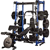 MAXXUS Multigym 9.1 | Gym-Quality Home Multi Gym with Smith Machine for Full Body Strength Training | Includes Weight Bench, Bench Press and Cable Pulley System