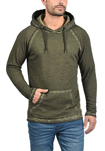 REDEFINED REBEL Moore Herren Kapuzenpullover Hoodie Sweatshirt mit Kapuze aus 100% Baumwolle Dark Olive