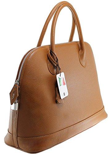 CTM Elegante klassische Damen-Tasche, 40x30x15cm, 100% echtes Leder Made in Italy Leder