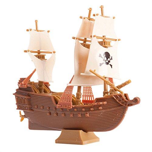 Decorazione in plastica per torta nave dei pirati Taglia Unica