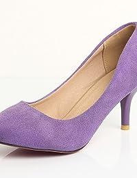 GGX/ Zapatos de mujer-Tacón Stiletto-Pump Básico / Puntiagudos-Tacones- Vestido / Fiesta y Noche-Semicuero-Azul / Morado / Rojo , purple…