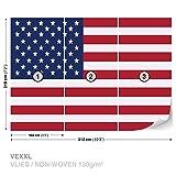 FORWALL Vlies Fototapete Tapete Vliestapete Dekoshop Flagge USA AD479VEXXL (312cm x 219cm) Photo Wallpaper Mural