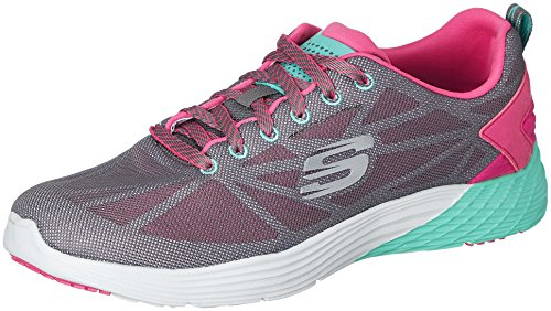 Skechers Valeris Front Page - Sneakers da donna, grigio (cchp), 39