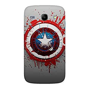 FROZEN VIBES Wo Blood Red Round Back Case Cover for Galaxy Core