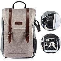 TARION RB-01 Kamerarucksack Reiserucksack Wasserabweisend SLR Rucksack mit Zubehörfächer für Kameras Zubehör und Outdoor Sport Reise