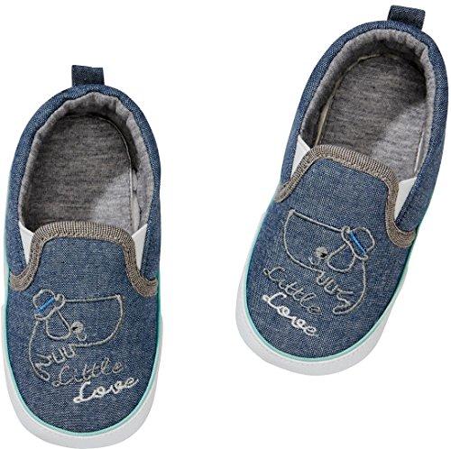 Golden Lutz® Baby Sneaker Canvas Turnschuhe Little Love (Jeans blau Taube, Gr. 23) | LUPILU