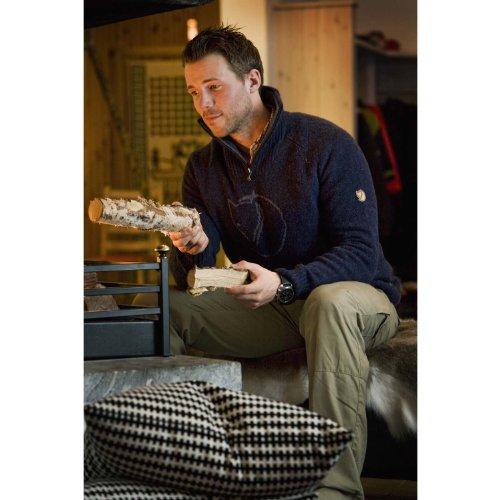 Fjällräven Herren Red Fox Sweater Pullover Grey