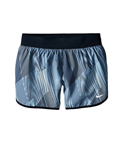 Tempo Shorts Print Nike (Nike Mädchen Tempo Rival Allover Print Shorts Oberbekleidung, Grau, S)