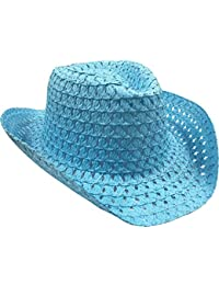 Kids Adults Easter Bonnet Straw Hat Natural Woven Colourful Decorative Cowboy Hats