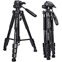 Tairoad Lightweight Tripod Compact Light Tripod with Ball Head and Quick Release Plate for Digital SLR Canon EOS Nikon Sony Panasonic Samsung - Black