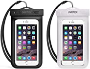 Universal Waterproof Phone Case, CHOETECH 2-Pack Clear Transparent Cellphone Dry Bag, Phone Pouch With Neck St