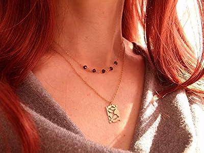 LOT 2 colliers or rempli, médaille ajourée rectangle, petites perles cristal,