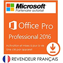 Microsoft Office 2016 Professional Plus 32/64 bits - Licence perpétuel - Pas d'abonnement - Licence numérique originale ESD de Microsoft Envoyé dans un jour par courrier électronique depuis Amazon - AUCUN CD / DVD | L'envoi est électronique!