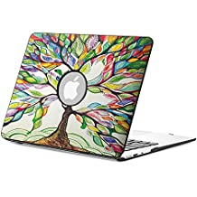 Fintie Macbook Air 13 Funda - Cuero de la PU + Cubierta de la caja de cáscara dura para Apple MacBook Air 13.3 Pulgadas (A1466 / A1369), Love Tree