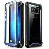 Samsung Galaxy S8 + Plus Hülle, i-Blason Handyhülle Ganzkörper-robusten Schutzhülle Transparent Stoßfänger S8 Plus Case mit eingebautem Displayschutz für Samsung Galaxy S8 + Plus 2017 Ausgabe