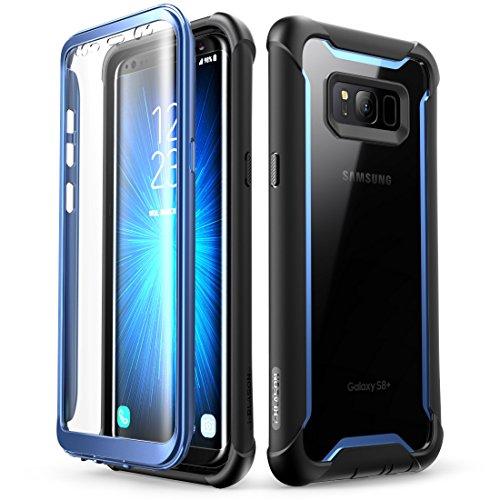 i-Blason Samsung Galaxy S8 Plus Hülle [Ares] 360 Grad Handyhülle Case Robust Schutzhülle Cover mit eingebautem Displayschutz für Galaxy S8 + Plus, Blue