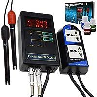 Digital pH & ORP Controlador Agua Calidad Monitor Ensayador Reemplazable Electrodo BNC Tipo 14.00pH / 1999mV