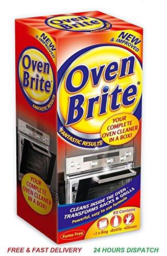 Ofen Brite Reiniger Kit Küche Reinigung Lösung Liquid Handschuhe Entfetten Tasche (Generic Lösung)