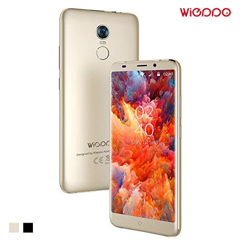 Smartphone 4G, Wieppo S8 Sbloccato Telefonia Mobile Dual SIM con Display da 5.7 Pollici 18:9 HD 1440*720, Camera da 5MP+13MP, 2GB RAM 16GB ROM, Android 7.0, Batteria 3000mAh (Oro)