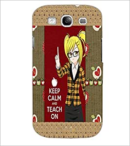 PrintDhaba Girl with Quote D-3021 Back Case Cover for SAMSUNG GALAXY S3 (Multi-Coloured)