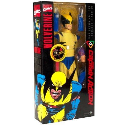 Wolverine Action Captain Kostüm - Round 2 Captain Action: Wolverine Costume Set by Round 2 (English Manual)