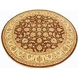 Runder Orientteppich Ziegler 305 cm Ø Braun - feine Qualität - moderner Teppich - oriental round carpet best quality