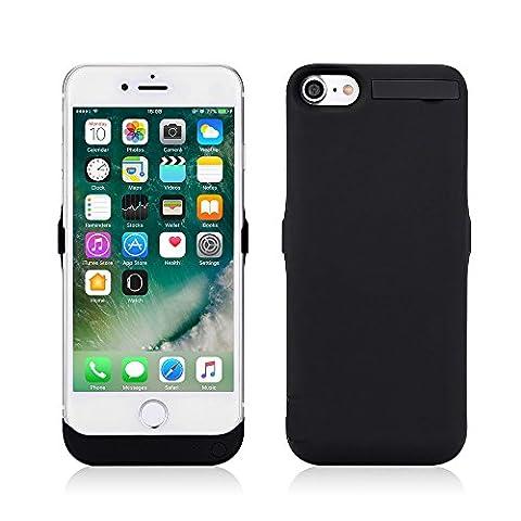 Zogin Ultra Fin Coque Batterie Externe 10000mAh pour iphone 7 - 4.7 pouces Haute Capacité Power Case Etui Housse Batterie de Secours Rechargeable Coque Chargeur de Protection - Noir
