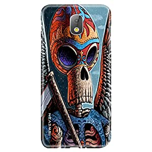 iSweven Samsung Galaxy J7 Pro Printed Matte Finish back cover/case cover/ printed design cover (Wings Of Death design)