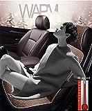 J.SC Luxus-beheiztes Autositz-Kissen-Einzelsitz 12V, winterwarme Heizung Sitzbedeckung, geeignet für die meisten Fünftklässler,5
