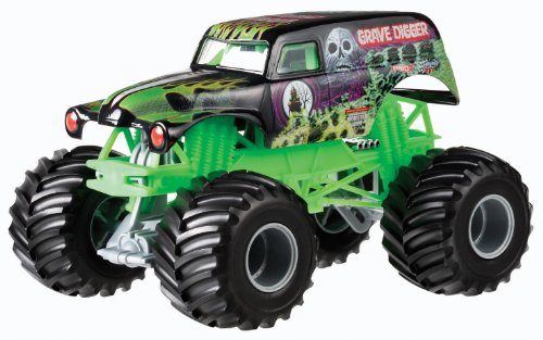 nster Jam 1:24 Grave Digger Die-cast Vehicle by Hot Wheels ()