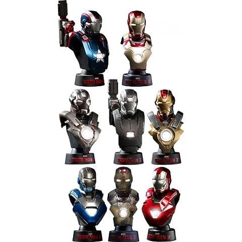 Hot Toys Iron Man 3 set 8 bustes 1/6