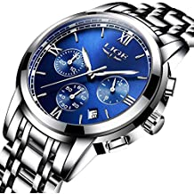 Relojes para hombres Reloj de acero inoxidable de la marca de lujo Marca LIGE Reloj de