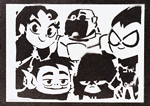 Poster Jóvenes Titanes Teen Titans Go! Grafiti Hecho