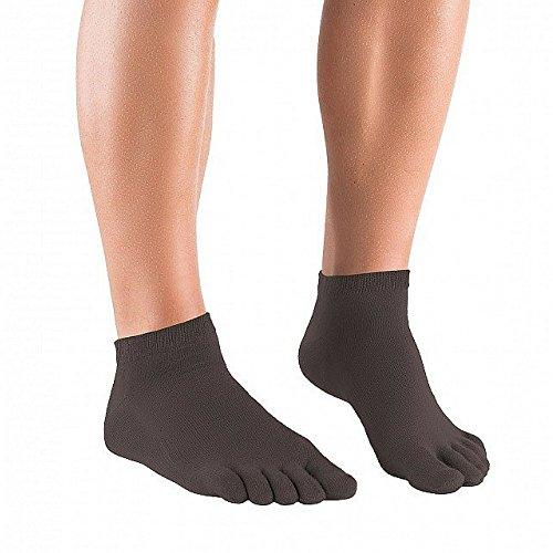 Knitido Essential Sneakers - Calzini con dita taglio sneakers, Misura:43-46;Colori:grigio
