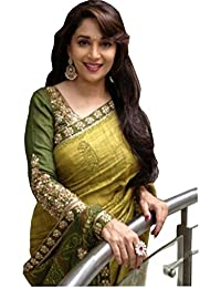 Saree New Collection Latest Of 2017 Green By FabDiamond-( Sarees For Women Party Wear Offer Designer Saree For...