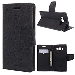 Sparkling Trends Mercury Goospery Fancy Diary Wallet Flip Cover Case for Samsung Galaxy NOTE 2 Black