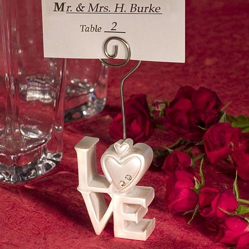 6 Love Design Nome / Memo Luogo carte nota nozze titolari favori Regali - (2 Pack) - Carta Regalo Della Santa Titolare