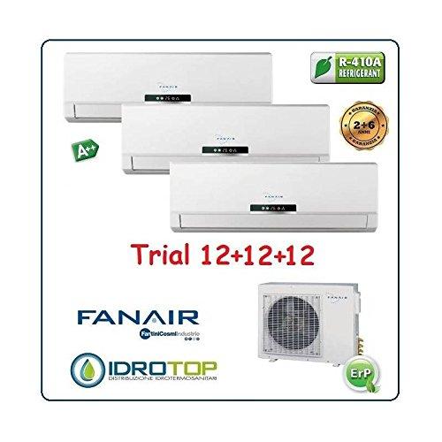 CLIMATIZZATORE TRIAL SPLIT 12000+12000+12000 DC INVERTER CLASSE A++ / A+ FANAIR - FANTINI COSMI