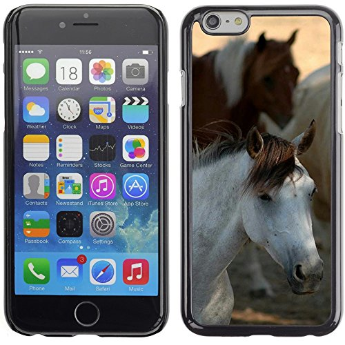 Graphic4You Pferd Tier Design Harte Hülle Case Tasche Schutzhülle für Apple iPhone 6 Plus / 6S Plus Design #7